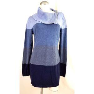 INC Size XL Blue Cowlneck Sweater